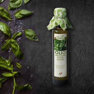 Olivenöl mit Basilikum - Flasche 0,25 L