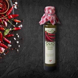 Olivenöl mit Peperoni - Flasche 0,25 L