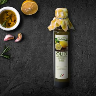 Olivenöl mit Zitrone - Flasche 0,25 L