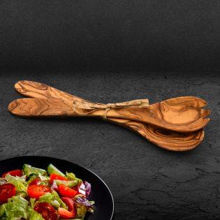 Salatbesteck aus Olivenholz ca. 30cm